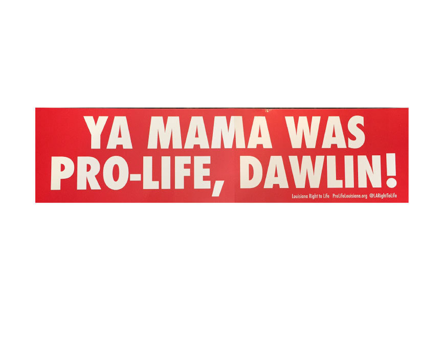 Ya Mama Bumper Sticker 00013