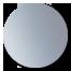 Square Offset Backplate Hinge  Chrome