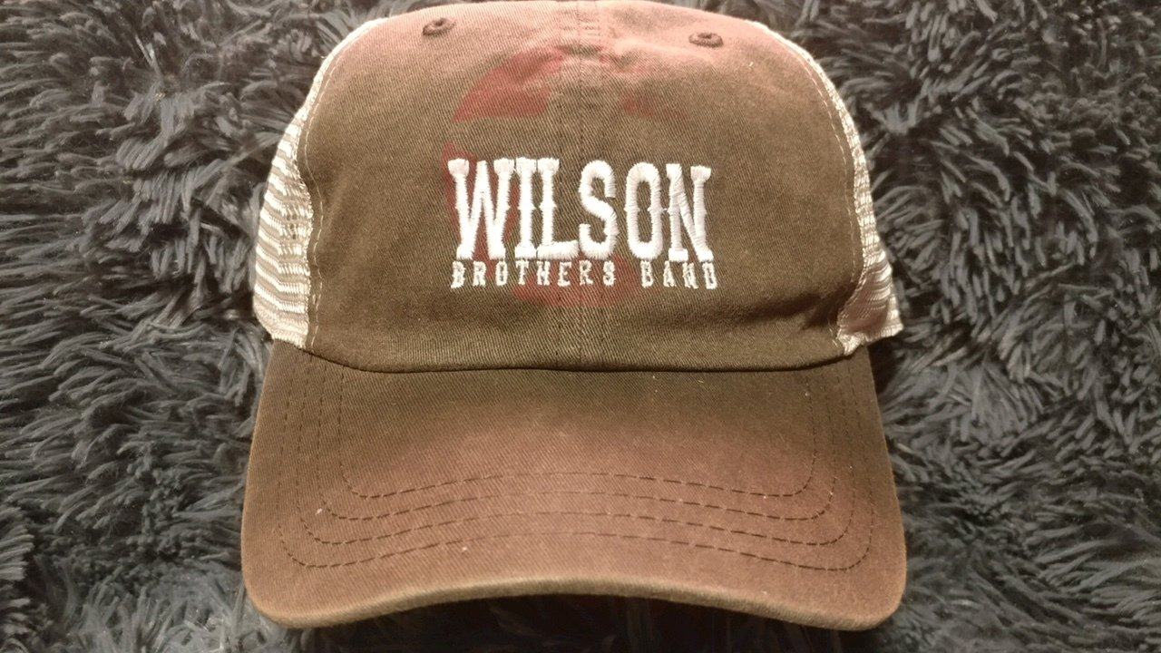 Wilson Brothers Band Hat  (Brown with Cream back)