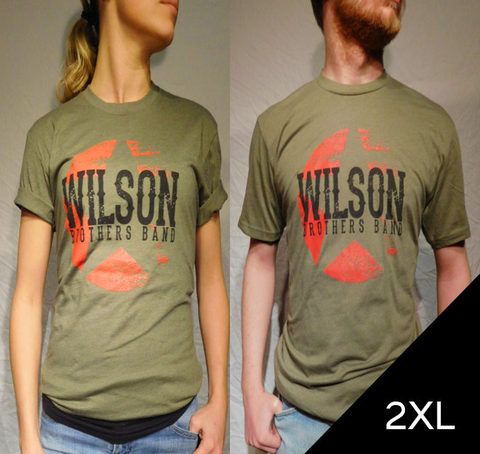 Wilson Brothers Band Army Green Tee (2XL)