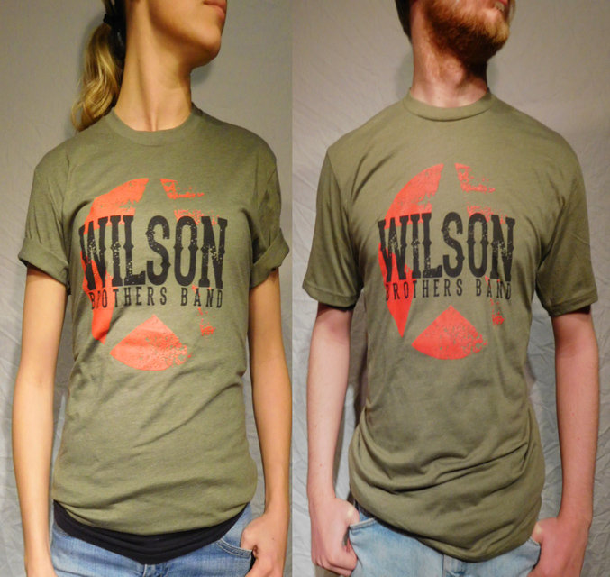 Wilson Brothers Band Army Green Tee (S-XL)