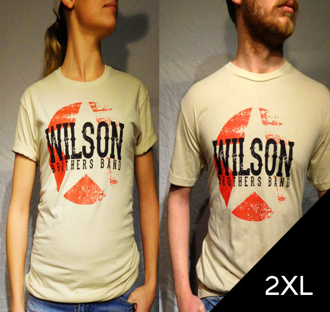 Wilson Brothers Band Cream Tee (2XL)