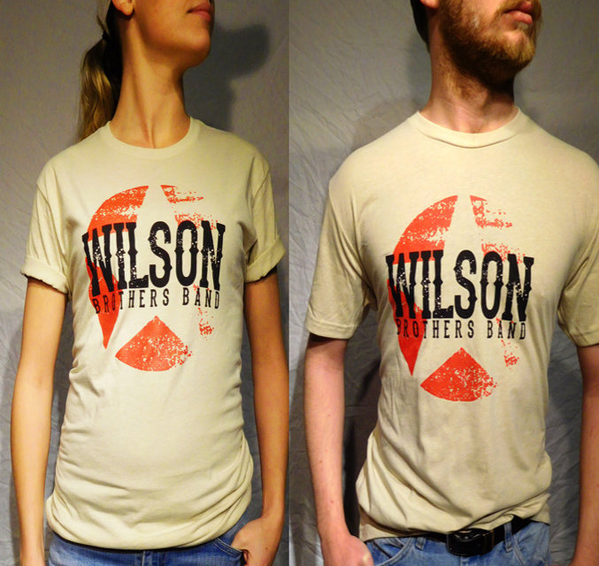 Wilson Brothers Band Cream Tee (S-XL)