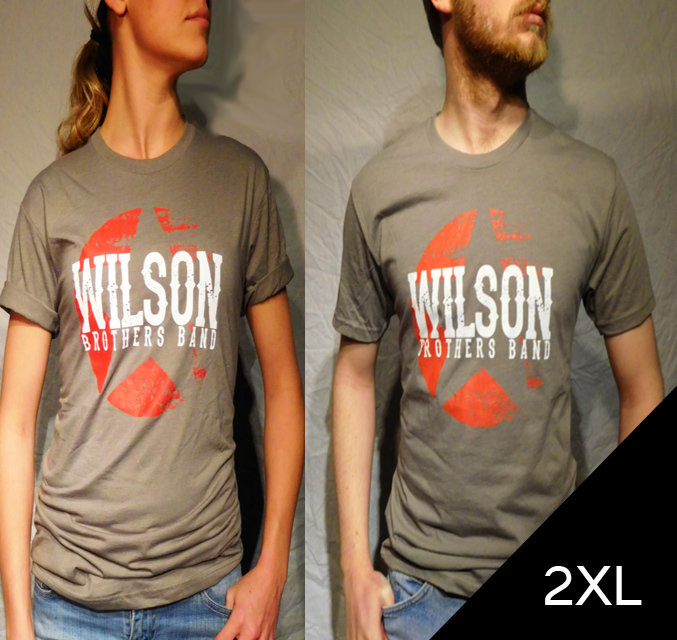 Wilson Brothers Band Gray Tee (2XL)