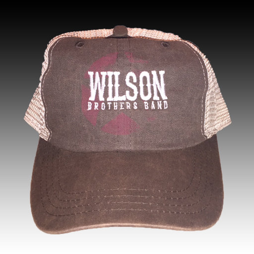 Wilson Brothers Band Hat  (Gray on White)