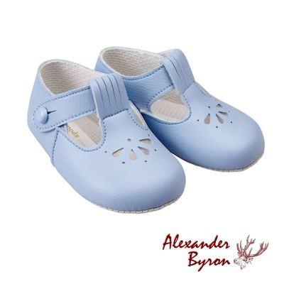 1a7b2e36f82653 Sky patent T-bar pram shoe by Baypods