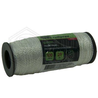 Шнур крученый полипропиленовый толщиной 1.5 мм длиной 100 м в катушке