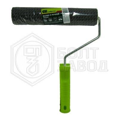 Валик ВЕЛЮР с ручкой 200 мм ворс 2 мм D - 36 мм