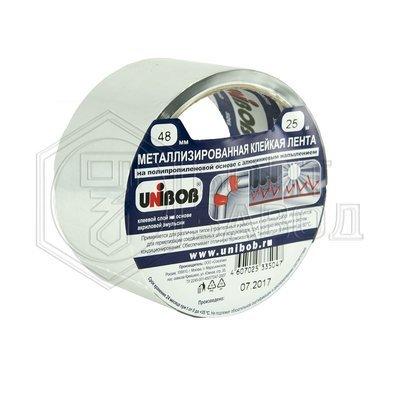 Клейкая лента металлизированная 48мм*25м UNIBOB