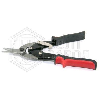 Ножницы по металлу пряморежущие с обрезиненной рукояткой 250 мм