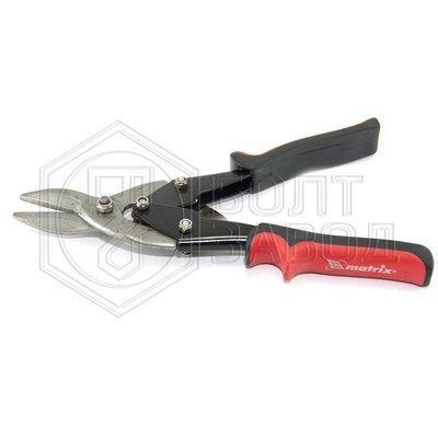 Ножницы по металлу левые с обрезиненной рукояткой 250 мм