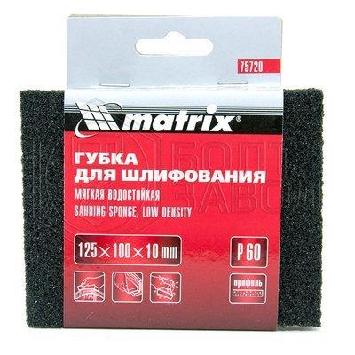 Губка для шлифования 125 на 100 мм толщиной 10 мм Р60