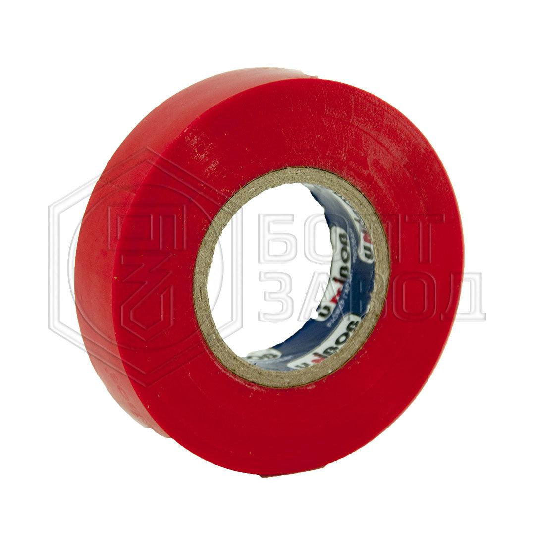 Электроизоляционная лента красная UNIBOB 15 мм х 20 м, 130 мкм 94456