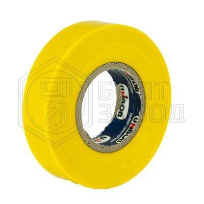Электроизоляционная лента желтая UNIBOB 15 мм х 20 м, 130 мкм