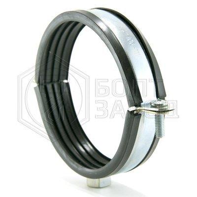 Хомут для труб с гайкой М10, 4 дюйма, диаметр 106-111 мм
