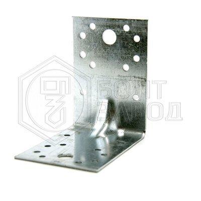 Уголок усиленный перфорированный 90 90 65 толщиной 2 мм