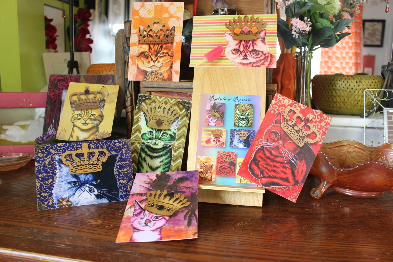Rainbow Royals postcard set