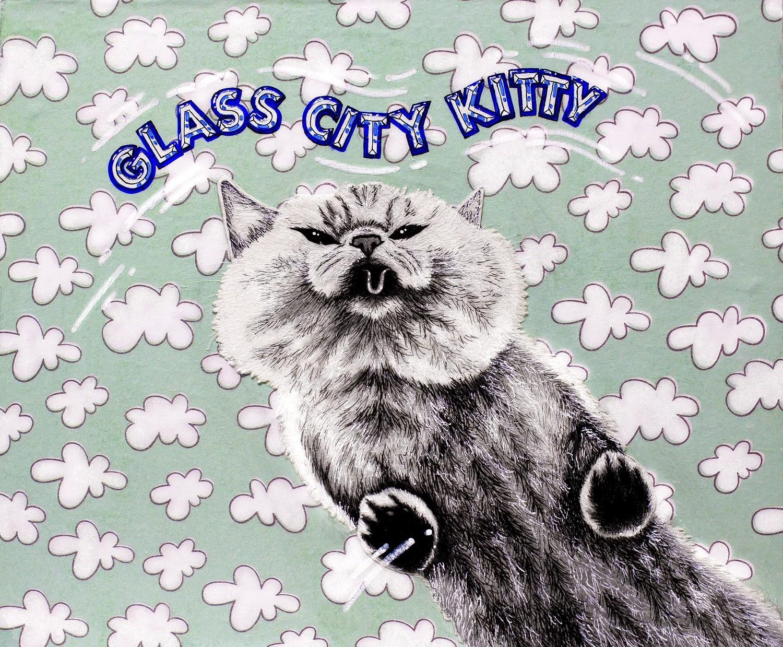 Glass City Kitty 5 x 7