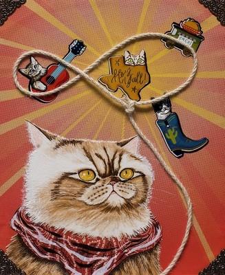 Lasso Kitty 5 x 7