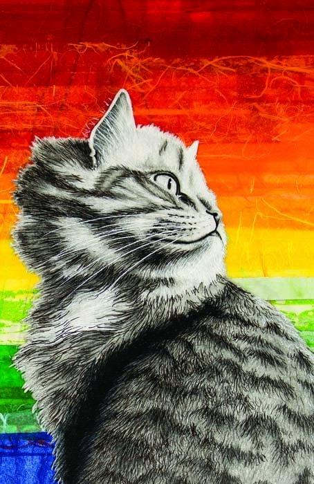 Pride cat, Greeting cards