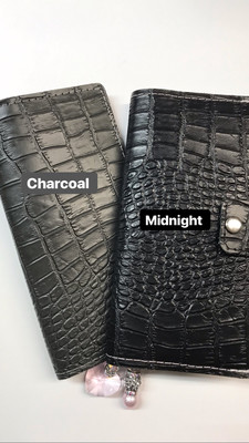 Midnight Croco Leather Jacket