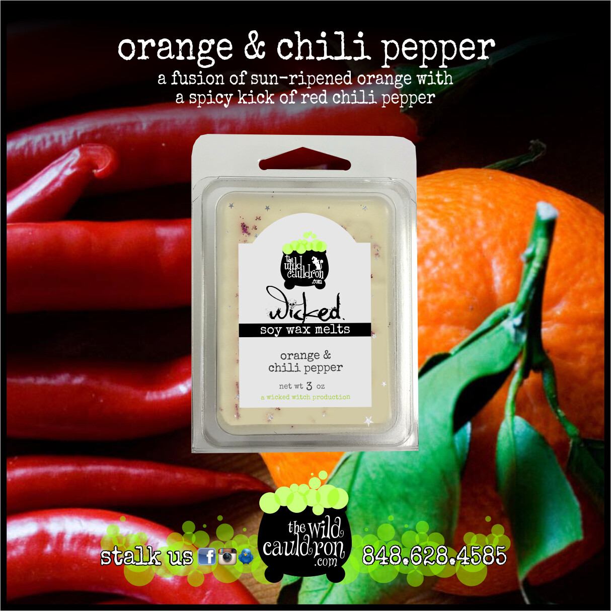 Orange and Chili Pepper Wicked Wax Melts