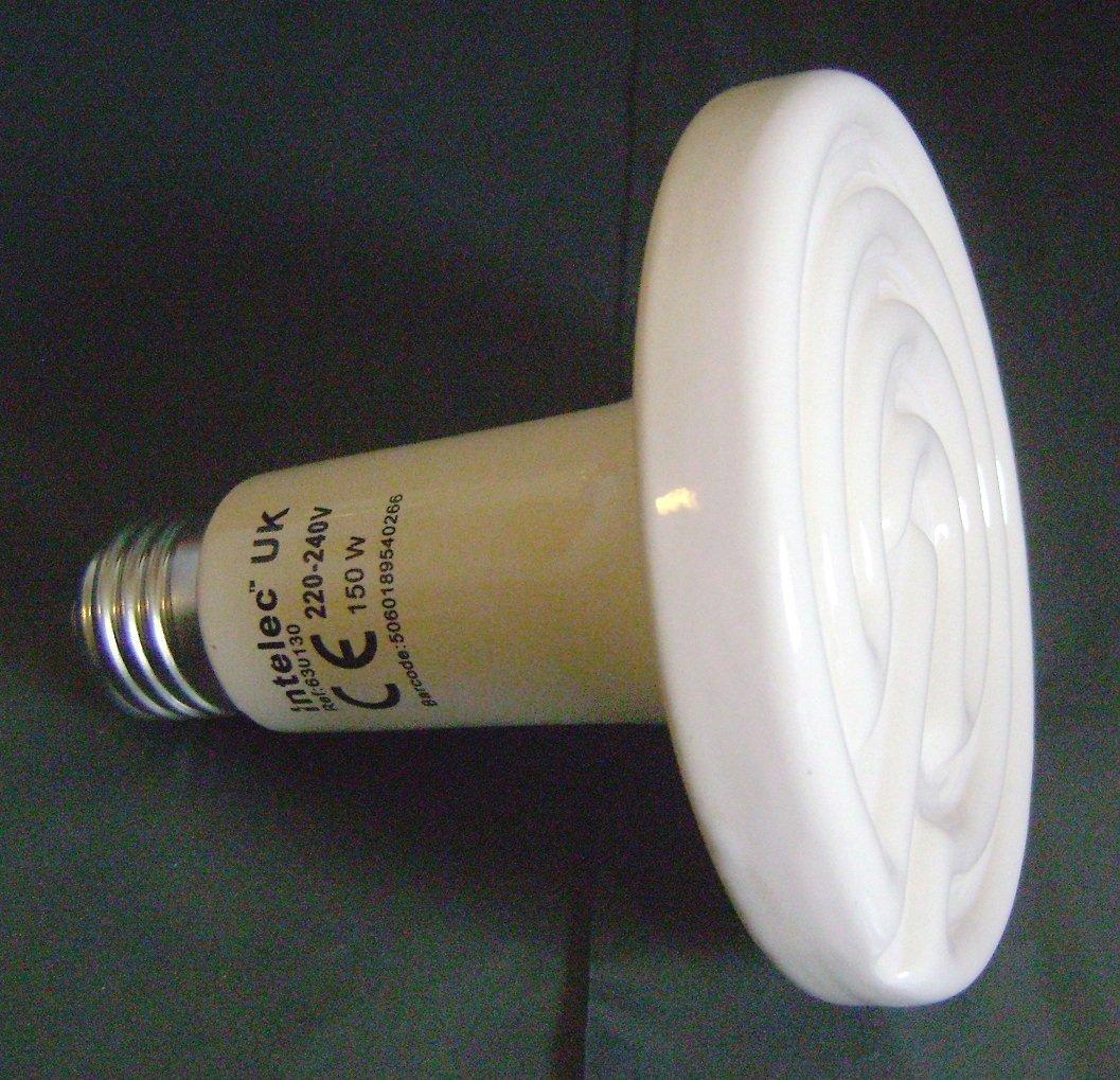 Intelec Ceramic Dull Emitter Bulb 150 Watt For Heat Lamp