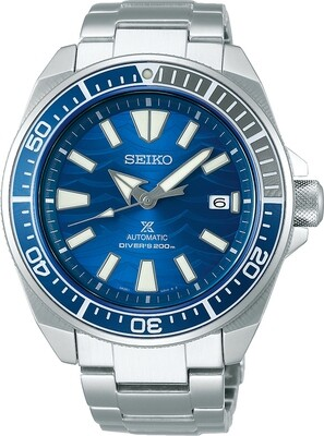 SEIKO Prospex Samurai Save The Ocean Great White Shark Special Edition -miestenkello