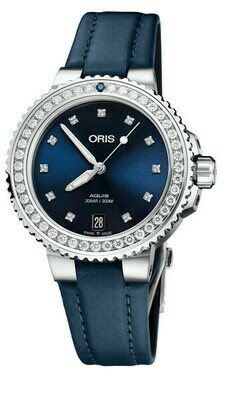 Oris Aquis Date Diamonds -naisten rannekello