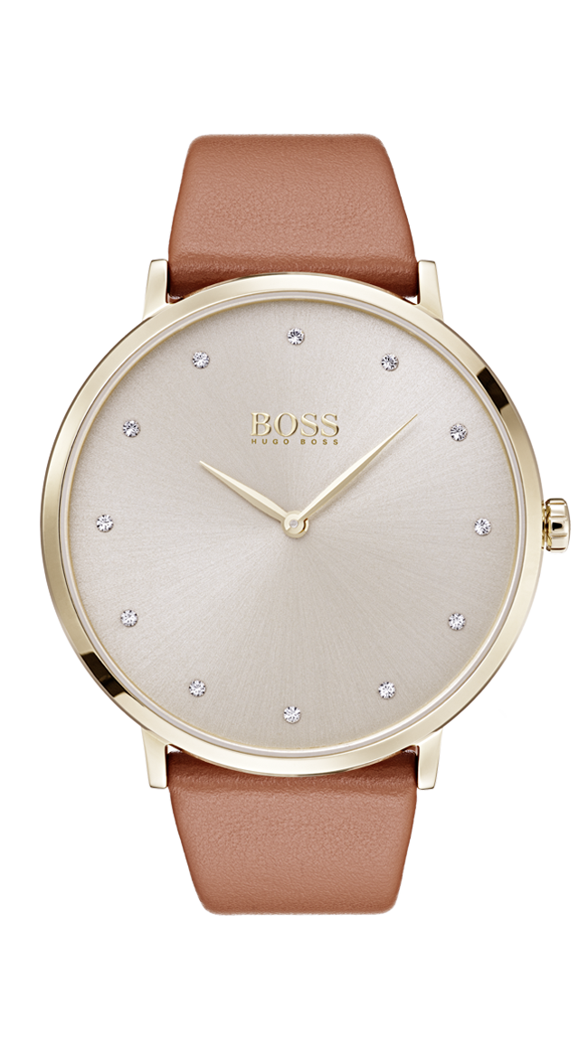 HUGO BOSS Jillian Watch Brown -naisten rannekello 1502411