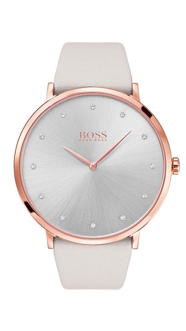 HUGO BOSS Jillian Grey Dial Watch -naisten rannekello