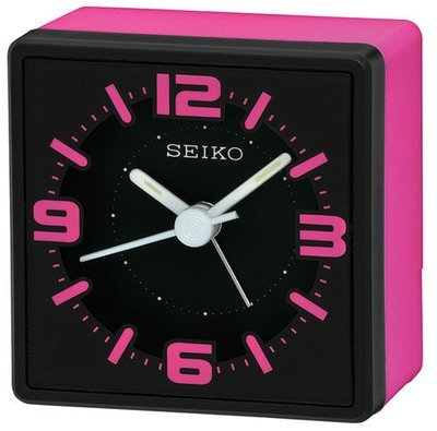SEIKO herätyskello musta/pinkki