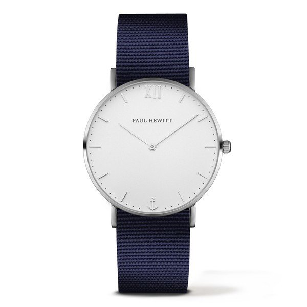 PAUL HEWITT Sailor Line White Sand Stainless Steel Nylon Watchstrap Navy Blue PH-SA-S-ST-W-N-20
