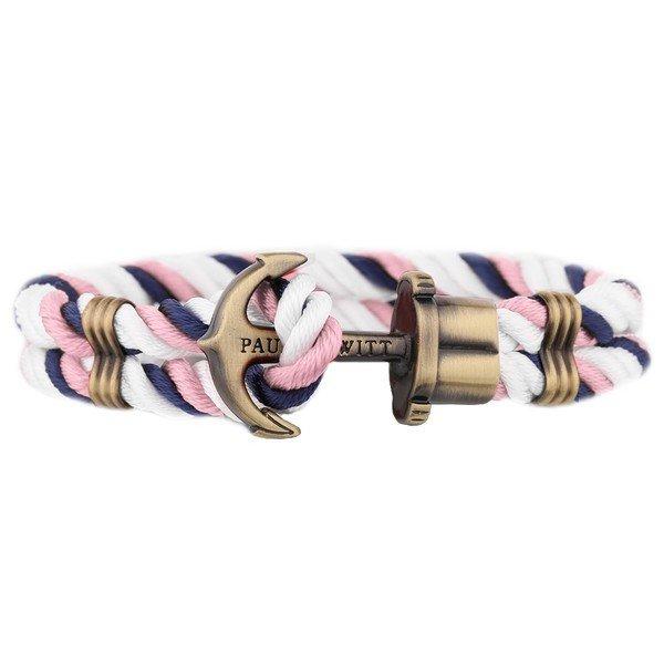 PAUL HEWITT Phrep Anchor Bracelet Brass Nylon Navy Blue-White-Pink PH-PH-N-NL-NLPW-XL