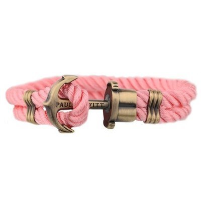 PAUL HEWITT Phrep Anchor Bracelet Brass Nylon Pink