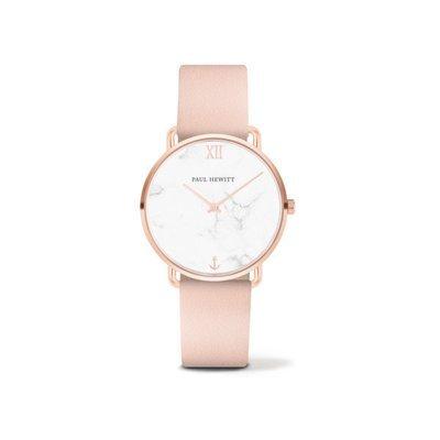 PAUL HEWITT Miss Ocean Line Pearl IP Rose Gold Leather Watch Strap Nude