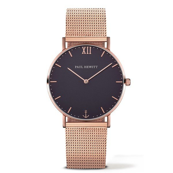 PAUL HEWITT Sailor Line Blue Lagoon IP Rose Gold Metal Watchstrap IP Rose Gold