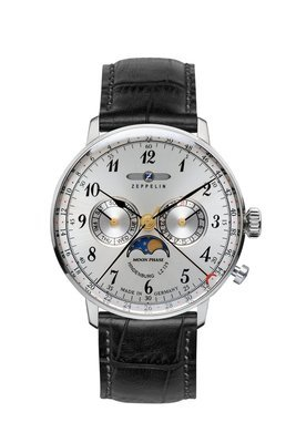 ZEPPELIN LZ 129 Hindenburg Moonphase -miesten rannekello