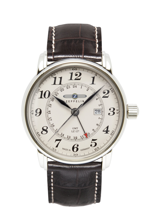 ZEPPELIN LZ-127 Graf Zeppelin GMT-Time Ronda 505 -miesten rannekello 76425