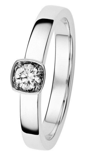 Kohinoor Stella -timanttisormus valkokulta 033-240V-19