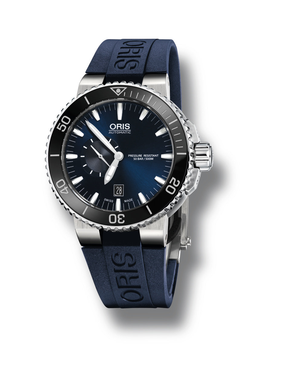 ORIS Aquis Small Second, Date -miesten rannekello 01 743 7673 4135-07 4 26 35EB
