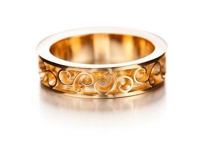 LUMOAVA Kiara -vihkisormus kultaa