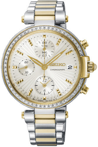 SEIKO Chronograph Quartz Diamond Accent -naisten rannekello