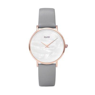 CLUSE Minuit La Perle Rose Gold White Pearl/Stone Grey -naisten rannekello
