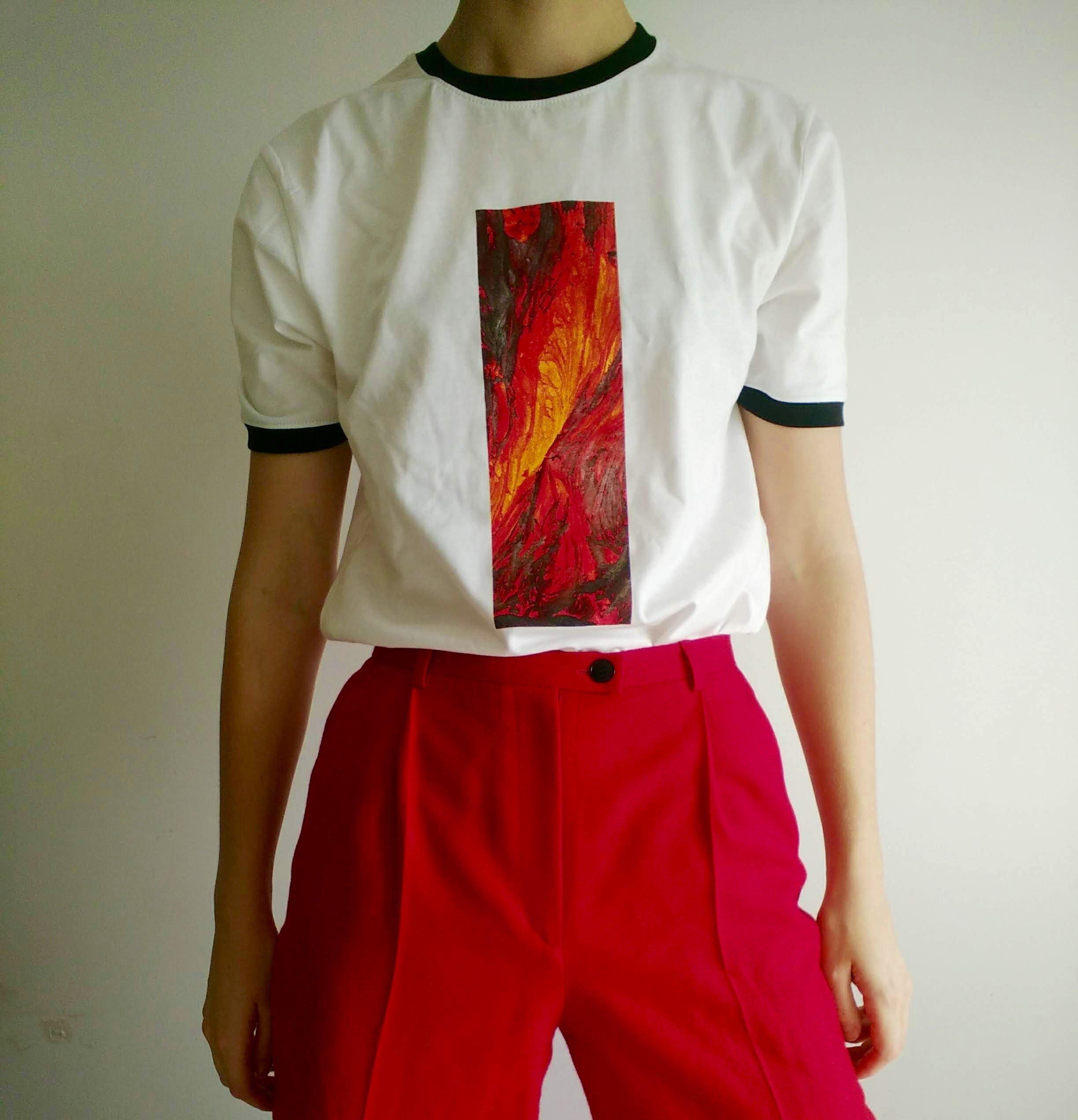 """Schmieds Puls """"Manic Acid Love"""" Shirt, weiß"""