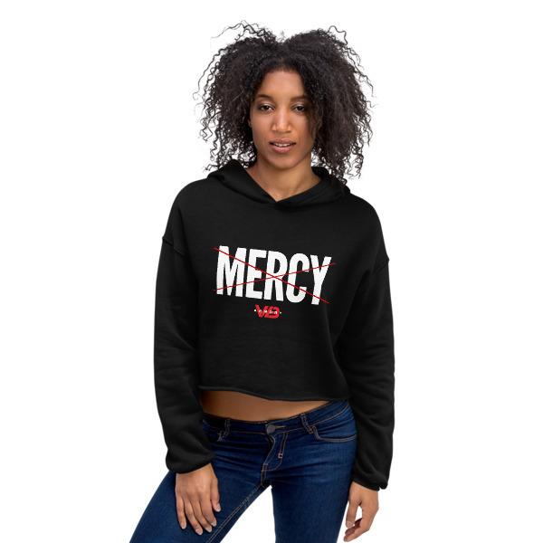 No Mercy - Ladies Crop Hoodie 00095