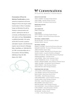 Conversations Journal 1.1 The First Issue (Hardcopy)