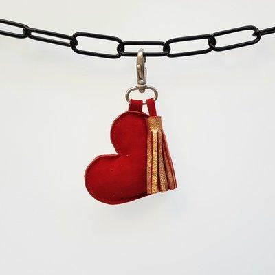 Sleutelhanger hart met kwastje