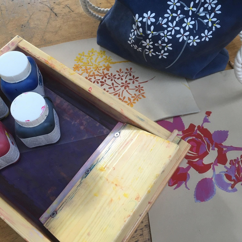 Workshop Zeefdrukken op leer
