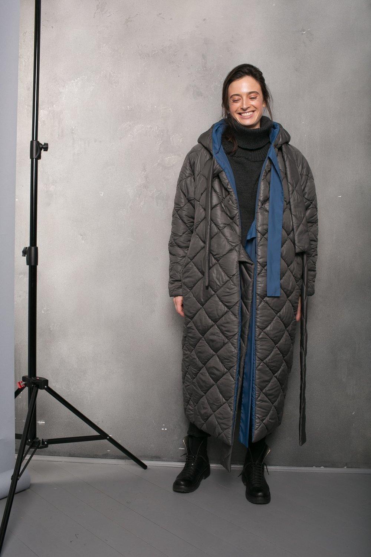 Пальто двустороннее стеганное